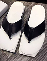 Women's Slippers & Flip-Flops Summer Slingback Nappa Leather Casual Black / White