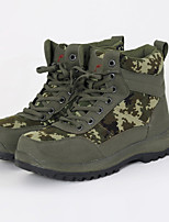 Men's Boots Fall Winter Others Leather Outdoor Flat Heel Blue Brown Green Hiking