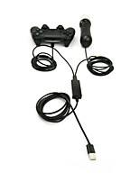 2 in 1 USB Charging Cable/ Adapter for DualShock 4 Wireless Controller/PS Controller/PS3 Move Motion Controllers/PS4 VR Controller