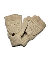 (Anmerkung - Clamshell Aprikose) ms schöne Finger dünne Wolle gestrickte Handschuhe