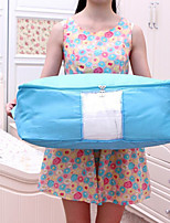 Quilt Storage Bag  Washing Oxford Cloth  Visible Window Clothes Finishing Water/Dust Proof Bag  (Random Colour)