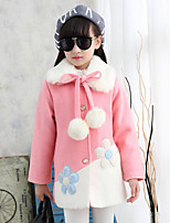 Girl Casual/Daily Solid Down & Cotton Padded,Cotton / Rayon Winter / Spring / Fall Long Sleeve