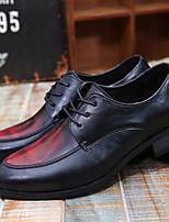 Коричневый / Желтый / Красный-Мужской-На каждый день-ПолиуретанУдобная обувь-Туфли на шнуровке