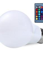 rgb 10w e27 levou globo lâmpada lâmpada de 16 cores changering com lâmpadas RGB Controlo remoto 24key (AC85-265V)