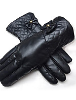 Winter Lady With Thick Leather Gloves