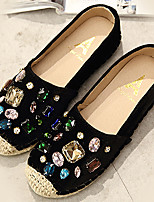 נשים-נעליים ללא שרוכים-סוויד-נוחות-שחור / אפור-קז'ואל