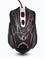 Estone X6 Professional Mice 6 Buttons Gaming Mouse 2400DPI LED Optical USB Wired Computer Mouse Cable Mouse Gamer