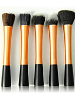 5 Contour Brush / Blush Brush / Fan Brush / Powder Brush / Foundation Brush Synthetic Hair Travel / Synthetic / Portable Face Others