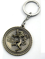 Inspired by Game of Thrones Anime Cosplay Accessories Keychain Golden / Silver Alloy