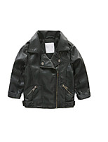 Boy's Casual/Daily Solid Jacket & CoatCotton Spring / Fall Black / Pink