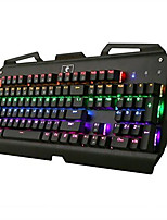 USB clavier mécanique / Clavier de jeu USB axe vert rétro-éclairage multi-couleurs X-7000