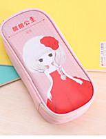Large Capacity Sweet Princess Pu Pen Bag