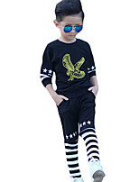 Boy Casual/Daily Solid Sets,Cotton Spring / Fall Long Sleeve Clothing Set