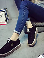Women's Sneakers Fall Platform PU Casual Platform Black Green Gray