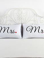 2 ks Bavlna / Polyester Povlak na polštář / Polštář na postel / Polštářový potah,Novinka Zvýraznění / dekorace / Módní a moderní