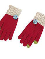 des gants à écran tactile multi-fonctions chaudes doigts (rouge)