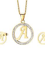 kalen®jewelry 1 náhrdelník / 1 párů náušnic drahokamu stran / den / příležitostná 1Nastavte ženy zlaté svatební dary