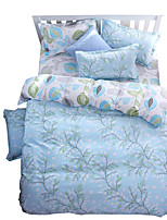 Mingjie Wonderful Light Blue Leaves Bedding Sets 4PCS for Twin Full Queen King Size from China Contian 1 Duvet Cover 1 Flatsheet 2 Pillowcases