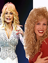 Dolly Parton Wear Wig Culry Long Length Classical Style for Women Heat Resistant High Quality