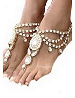 Women's Anklet/Bracelet Gemstone Rhinestone Alloy Statement Jewelry Drop Silver Golden Women's Jewelry Daily