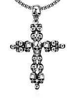 Men's Pendant Necklaces Stainless Steel Cross Skull / Skeleton Unique Design Dangling Style Punk Personalized Hip-Hop Rock Euramerican