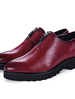 Men's Oxfords Spring / Summer / Fall / Winter Comfort Leather Wedding / Office & Career / Party & Evening Black / Red