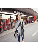 Women's Going out Holiday Street chic Sophisticated Regular Cloak / Capes,Solid Gray Asymmetrical Sleeveless Others Spring Fall Medium