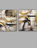 Ручная роспись Абстракция Картины маслом,Modern / Классика 2 панели Холст Hang-роспись маслом For Украшение дома