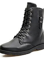 Черный Коричневый-Мужской-Повседневный Для занятий спортом-Полиуретан-На плоской подошве-Удобная обувь-Туфли на шнуровке