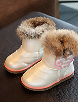 Girl's Boots Winter Others Leatherette Outdoor Casual Flat Heel Applique Pink White Coral Others