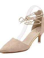 Damen-Sandalen-Lässig-WildlederOthers-Mandelfarben