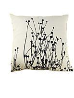 1 pcs Coton / Lin Taie d'oreiller,Fleur Moderne/Contemporain