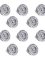 3W GU5.3(MR16) Spot LED MR16 3 SMD 3030 300 lm Blanc Chaud / Blanc Froid Gradable / Décorative DC 12 / AC 12 V 10 pièces