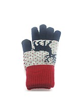 (NOTE - RED) MALE LADY TOUCH SCREEN GLOVES FAWN MOBILE PHONES WITH THICK GLOVES