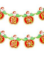 2pcs conception est cloches de canne couleur aléatoire décoration cadeaux anneau pendent agir le rôle ofing Noël ornements d'arbre cadeau