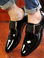 Men's Loafers & Slip-Ons Fall Others Patent Leather Casual Black