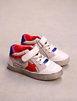 Boy's Sneakers Comfort Cowhide Casual Black / Pink / Red