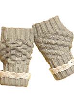 милые перчатки росы (светло-серый короткий шнурок перчатки)