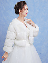 Women's Wrap Shrugs Faux Fur Wedding Party/Evening