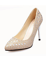 Women's Heels Fall Winter Comfort PU Casual Stiletto Heel Others Red Silver Gray Gold Others