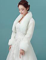Женская накидка Болеро Искусственный мех Для свадьбы Вечерние