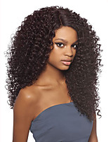 8A Kinky Curly Glueless Lace Front Wigs Virgin Hair Natural Color Brazilian Human Hair Wigs For Women