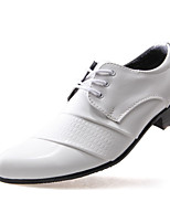 Men's Oxfords Spring Summer Fall Winter Comfort PU Casual Low Heel Lace-up Black White