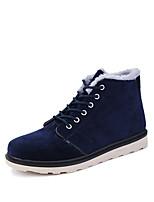 Черный / Синий / Коричневый-Мужской-Для прогулок / На каждый день-Замша-На плоской подошве-Удобная обувь-Ботинки