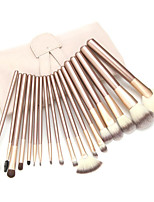 18 Makeup Brushes Set Synthetic Hair Portable Wood Face / Eye / Lip Others