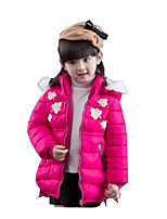 Girl Casual/Daily Solid Down & Cotton Padded,Cotton / Polyester Winter / Spring / Fall Long Sleeve