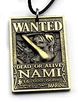 Mehre Accessoires Inspiriert von One Piece Nami Anime Cosplay Accessoires Gold / Silber Legierung