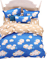 Mingjie Wonderful Sky Blue Cloud Bedding Sets 4PCS for Twin Full Queen King Size from China Contian 1 Duvet Cover 1 Flatsheet 2 Pillowcases