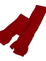 longue section de couleur unie semi-fait référence aux gants en cuir (rouge un paquet de deux paires d'un paquet de vente)