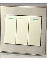 86 Wall Switch Panel Three Single-Panel Switch